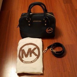 Michael Kors Navy Saffiano Leather Bag
